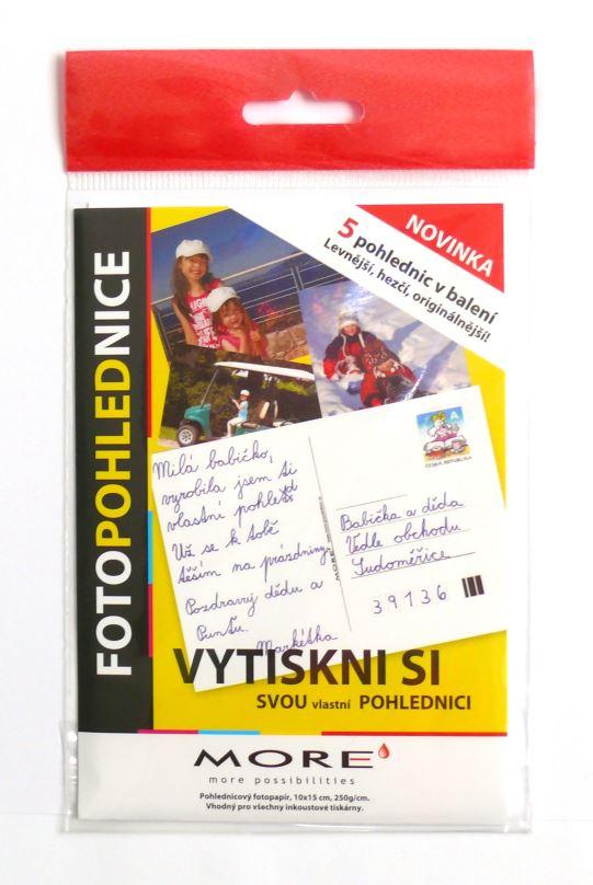 Fotopohlednice 250g/m2, 10x15 cm, glossy, 5ks/bal