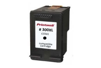 PRINTWELL CC640EE (No.300) kompatibilní inkoustová kazeta, barva náplně černá, 300 stran