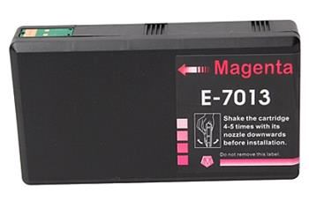 PRINTWELL T7013 XXL Magenta C13T70134010 kompatibilní inkoustová kazeta, barva náplně purpurová, 3400 stran