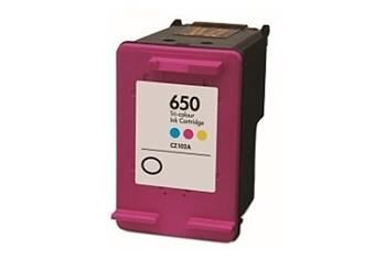 PRINTWELL CZ102 (No:650 COLOR) kompatibilní inkoustová kazeta, barva náplně azurová/purpurová/žlutá, 440 stran