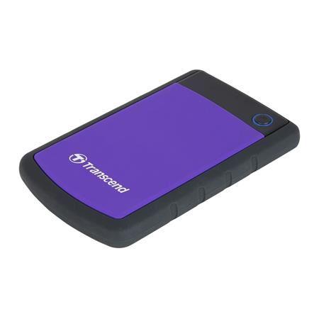 """TRANSCEND 2TB StoreJet 25H3P, USB 3.0, 2.5"""" Externí odolný hard disk, černo/fialový"""