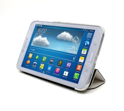 C-TECH PROTECT pouzdro pro Samsung Galaxy TAB 3 8.0, STC-02, bílé, wake/sleep funkce