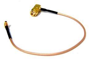 Pigtail 25cm RG316 MMCX - RSMA male 90° úhlový
