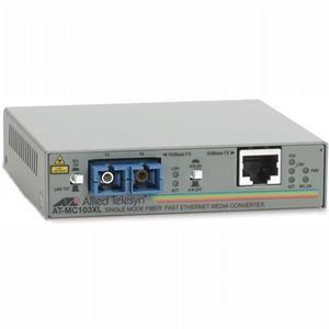 Allied Telesyn 100TX (RJ-45) to 100FX single-mode fiber (SC) media converter