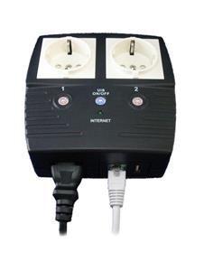 MegaTec MSNswitch - ovládání elektrických zásuvek po síti, 2x zásuvka, 1xLAN, 1xUSB