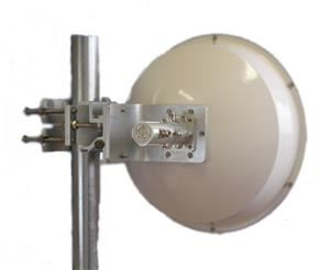 Jirous JRC-24 DuplEX Precision SMA anténa parabola duální polarizace 24dBi 5GHz + radom, balení 1 ks