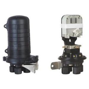 08VM3 Vodotěsná optická spojka, zemní/zeď/stožár, 24 vláken4x6,  4prostupy,matice,300x188mm