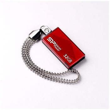 USB flash disk Silicon Power Drive Touch 810, 32GB, USB 2.0, červený