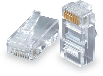 Konektor RJ45 CAT5E UTP 8p8c pro drát 100ks bal. (Konektory/spojky)