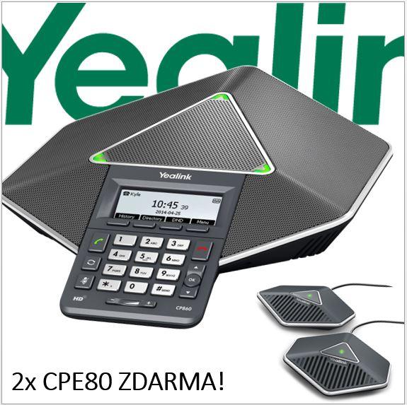 """Yealink CP860 IP audiok. tel.,PoE,3"""" 192x64 LCD,4 prog. tl. (IP telefonie / VOIP produkty)"""