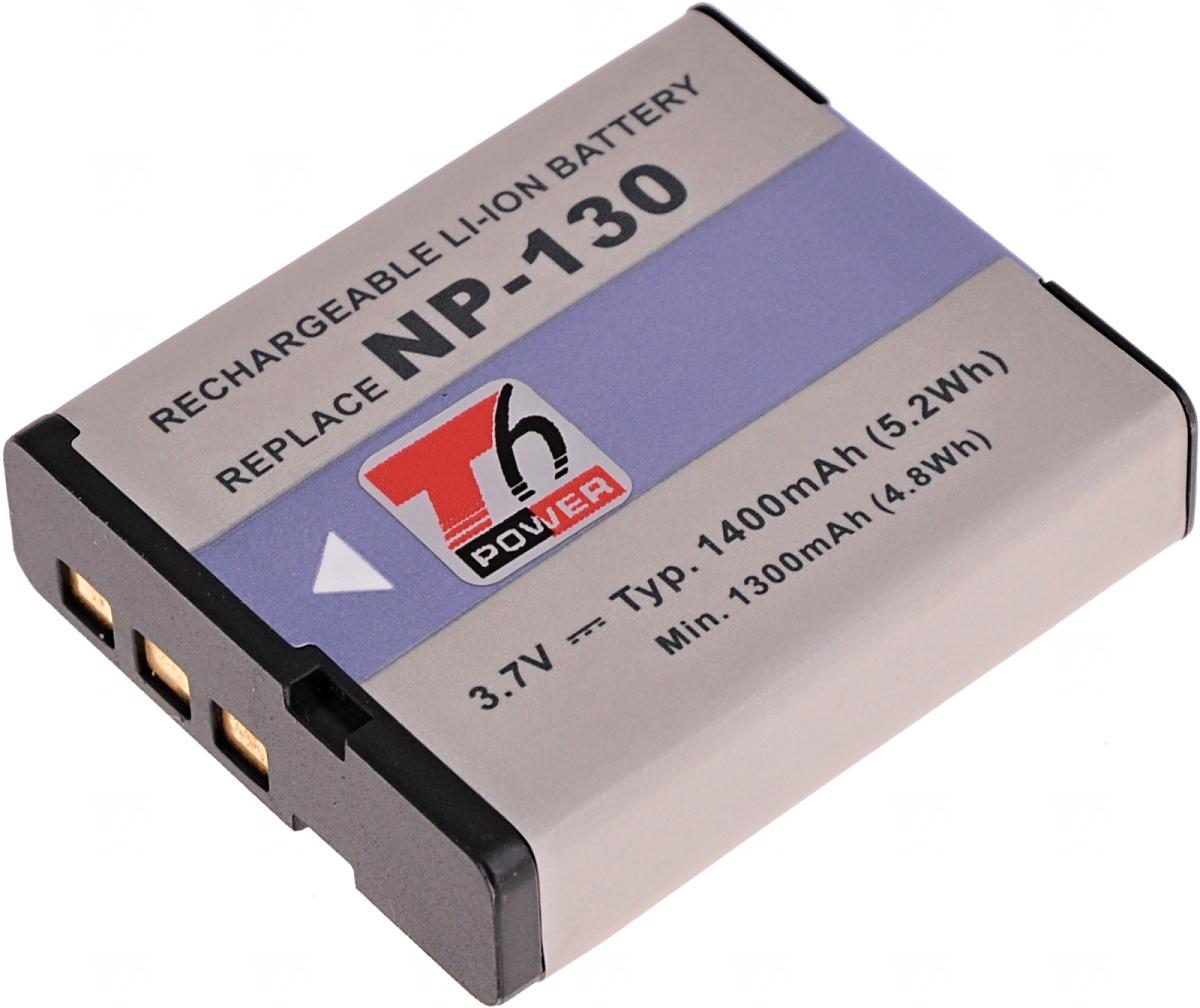 Baterie T6 power Casio NP-130, 1400mAh, černá (Baterie a gripy)