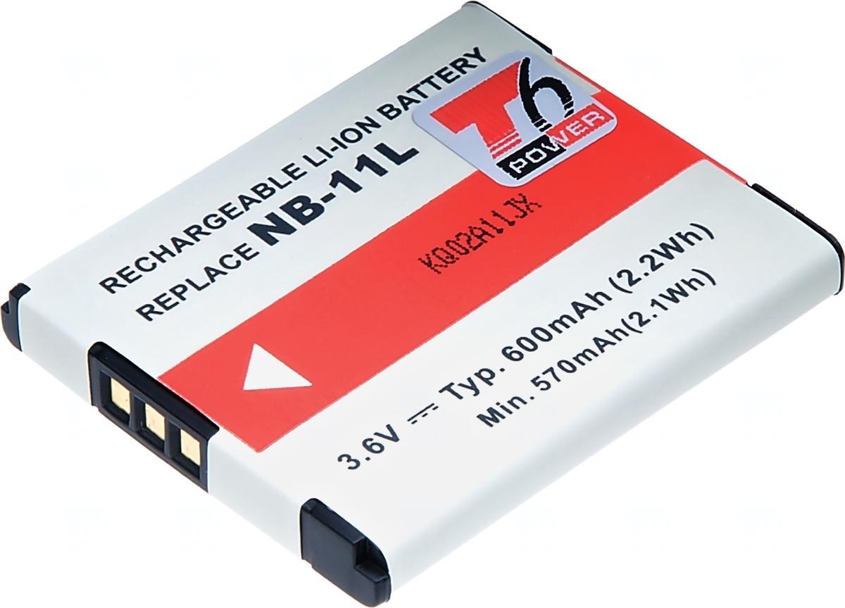 Baterie T6 power Canon NB-11L, 600mAh, šedá (Baterie a gripy)
