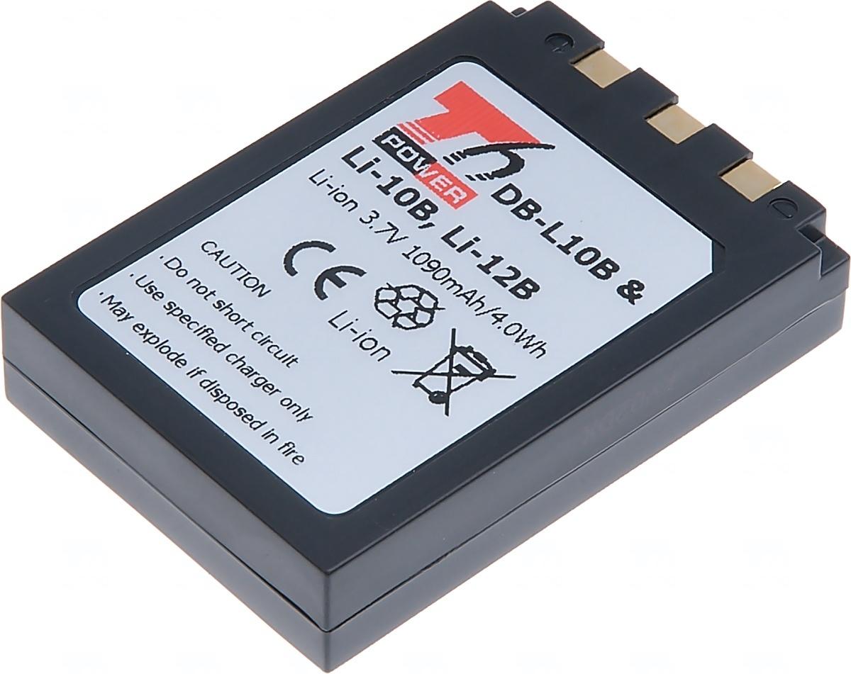 Baterie T6 power Olympus Li-10B, Li-12B, Sanyo DB-L10B, Li-ion, 1090mAh, černá (Baterie a gripy)