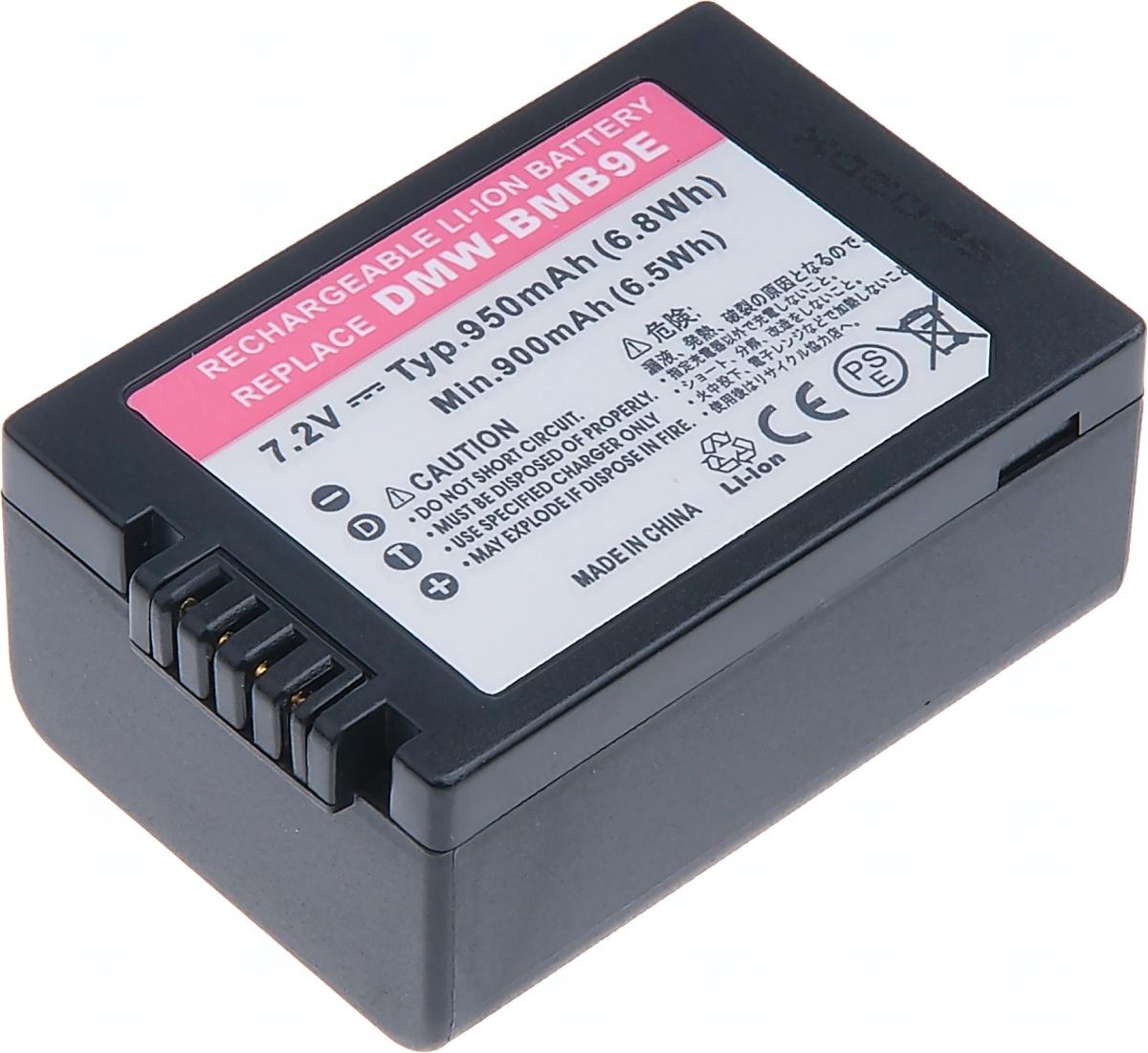Baterie T6 power Panasonic DMW-BMB9E, 950mAh, černá (Baterie a gripy)