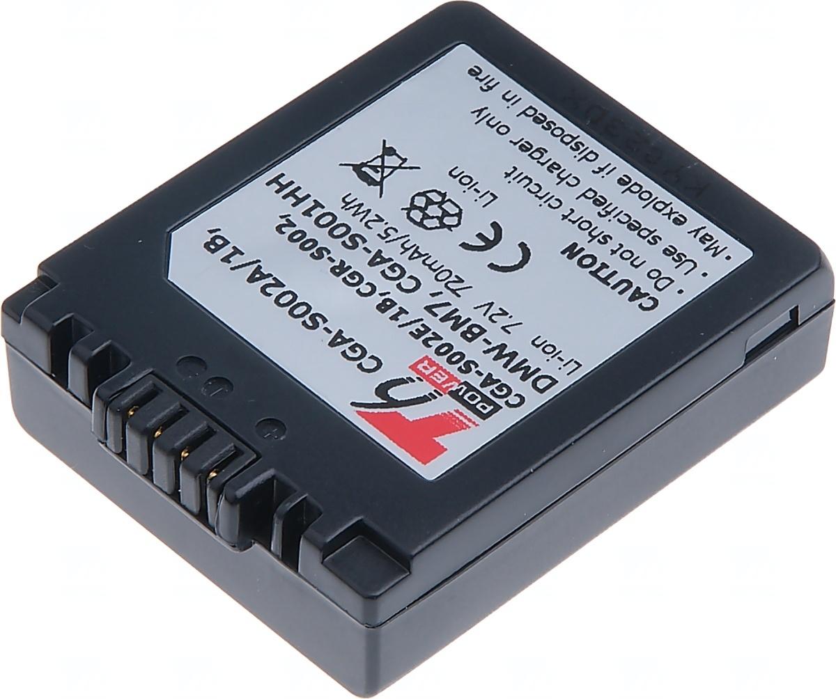 Baterie T6 power Panasonic DMW-BM7, CGA-S002E, CGA-S002, 720mAh, šedá (Baterie a gripy)