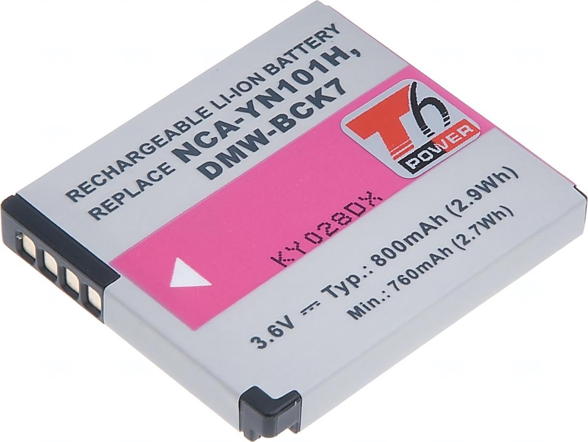 Baterie T6 power Panasonic DMW-BCK7, 800mAh, černá (Baterie a gripy)