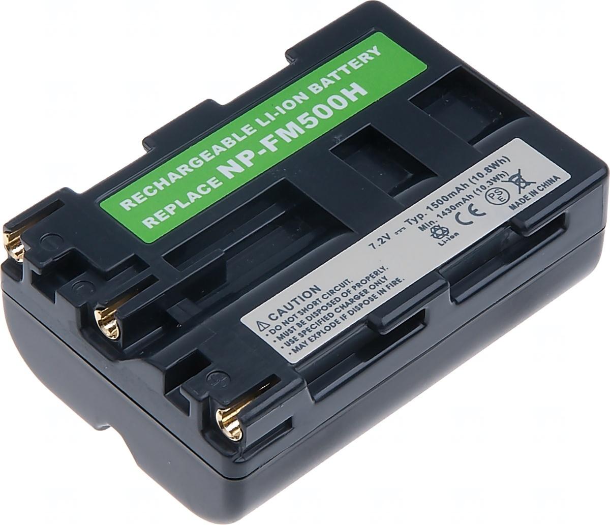 Baterie T6 power Sony NP-FM500H, 1700mAh, šedá (Baterie a gripy)