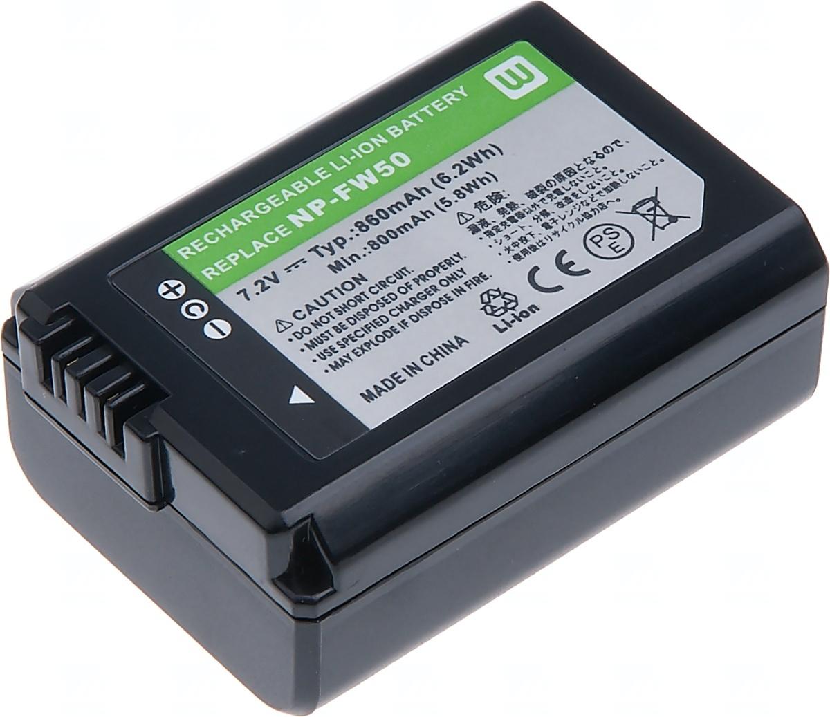 Baterie T6 power Sony NP-FW50, 1080mAh, černá (Baterie a gripy)