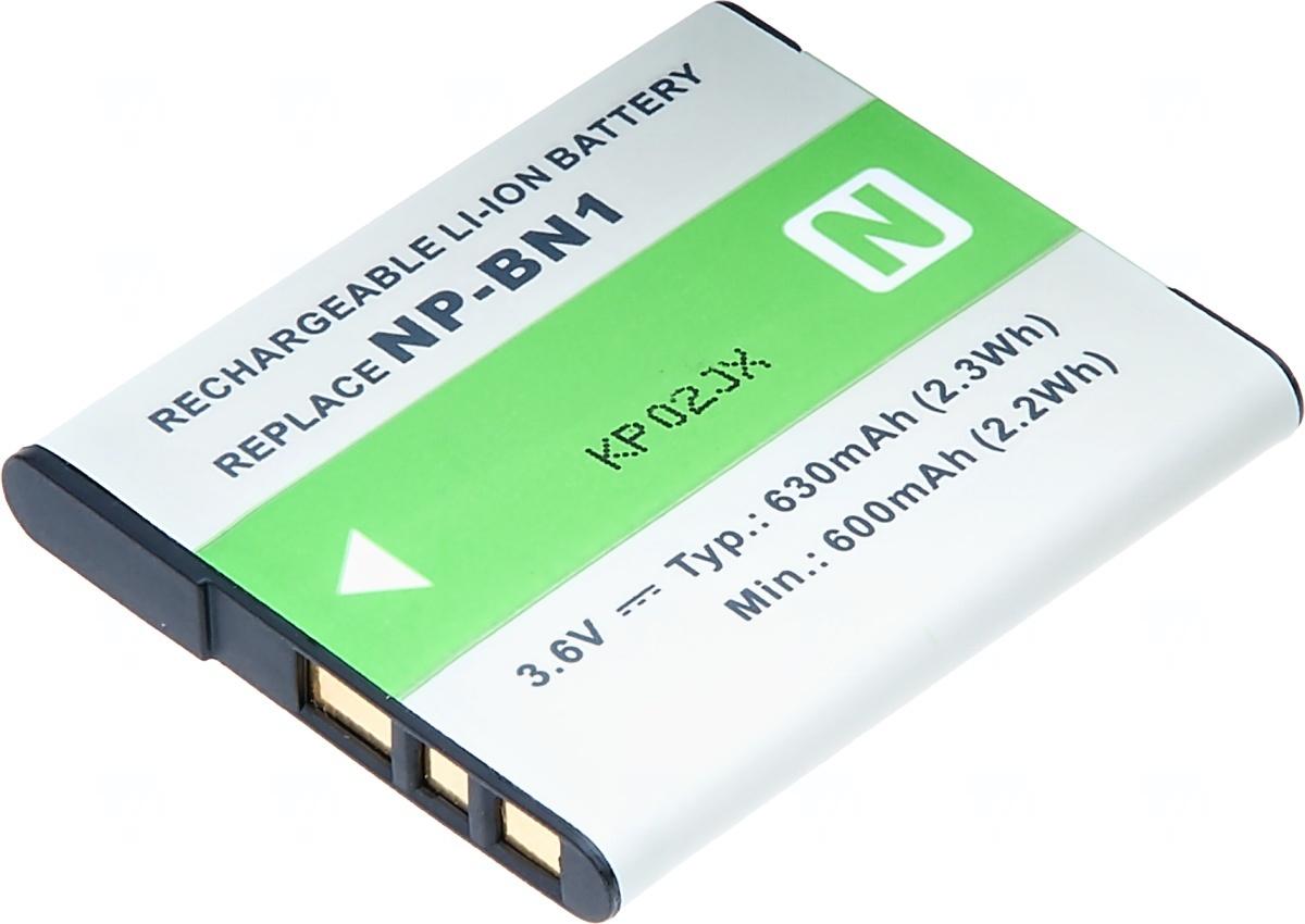 Baterie T6 power Sony NP-BN1, 630mAh, šedá (Baterie a gripy)