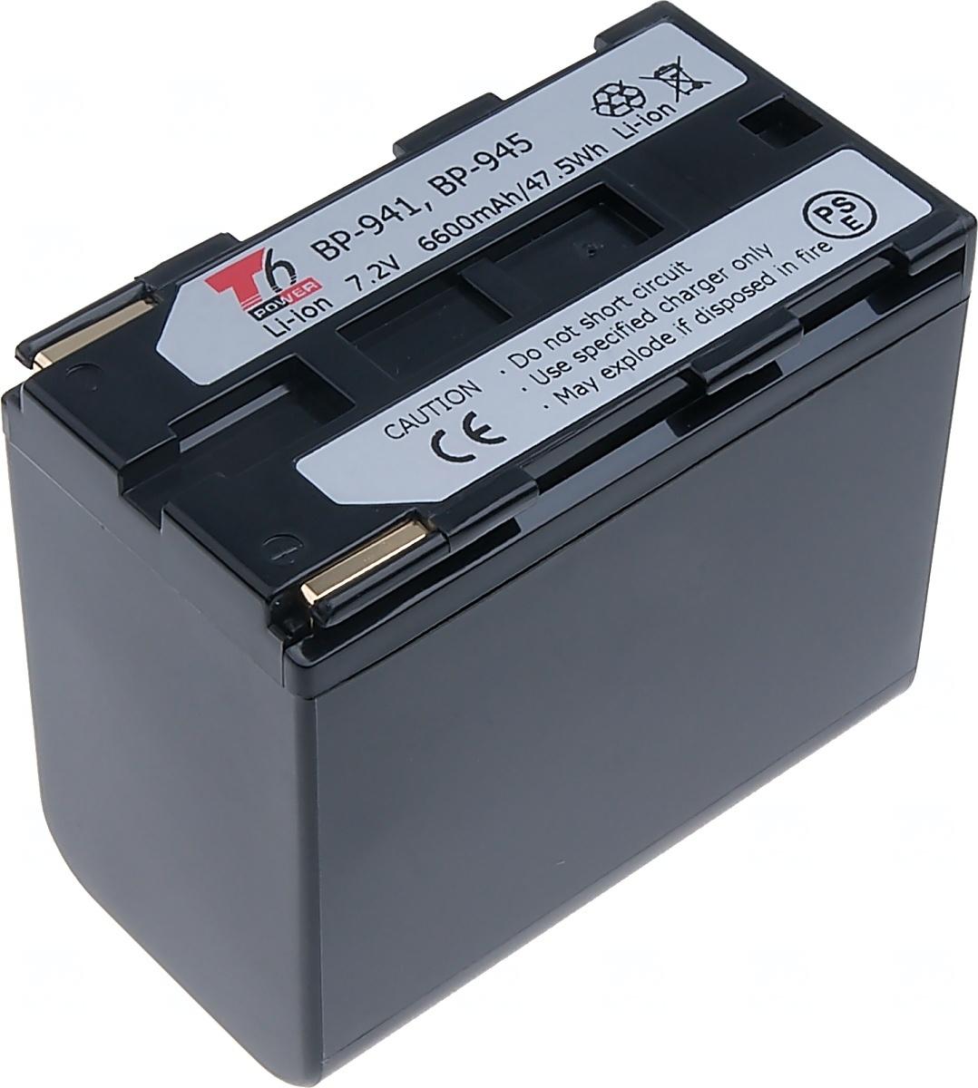 Baterie T6 power Canon BP-941, BP-945, 6900mAh, černá (Baterie a gripy)