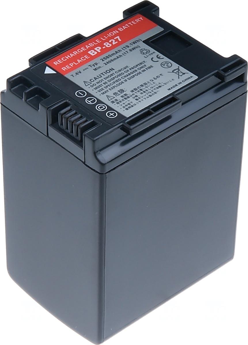 Baterie T6 power Canon BP-827, 2580mAh, černá (Baterie a gripy)