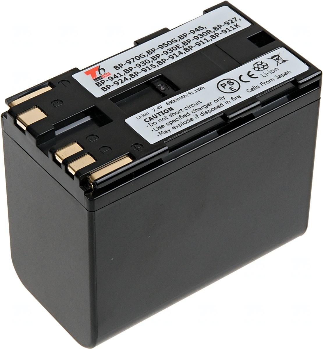 Baterie T6 power Canon BP-911, BP-914, BP-930, BP-945, BP-950, BP-955, BP-970, BP-975, 7800mAh (Baterie a gripy)
