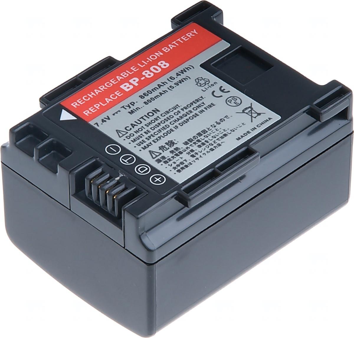 Baterie T6 power Canon BP-808, BP-809, 860mAh, černá (Baterie a gripy)