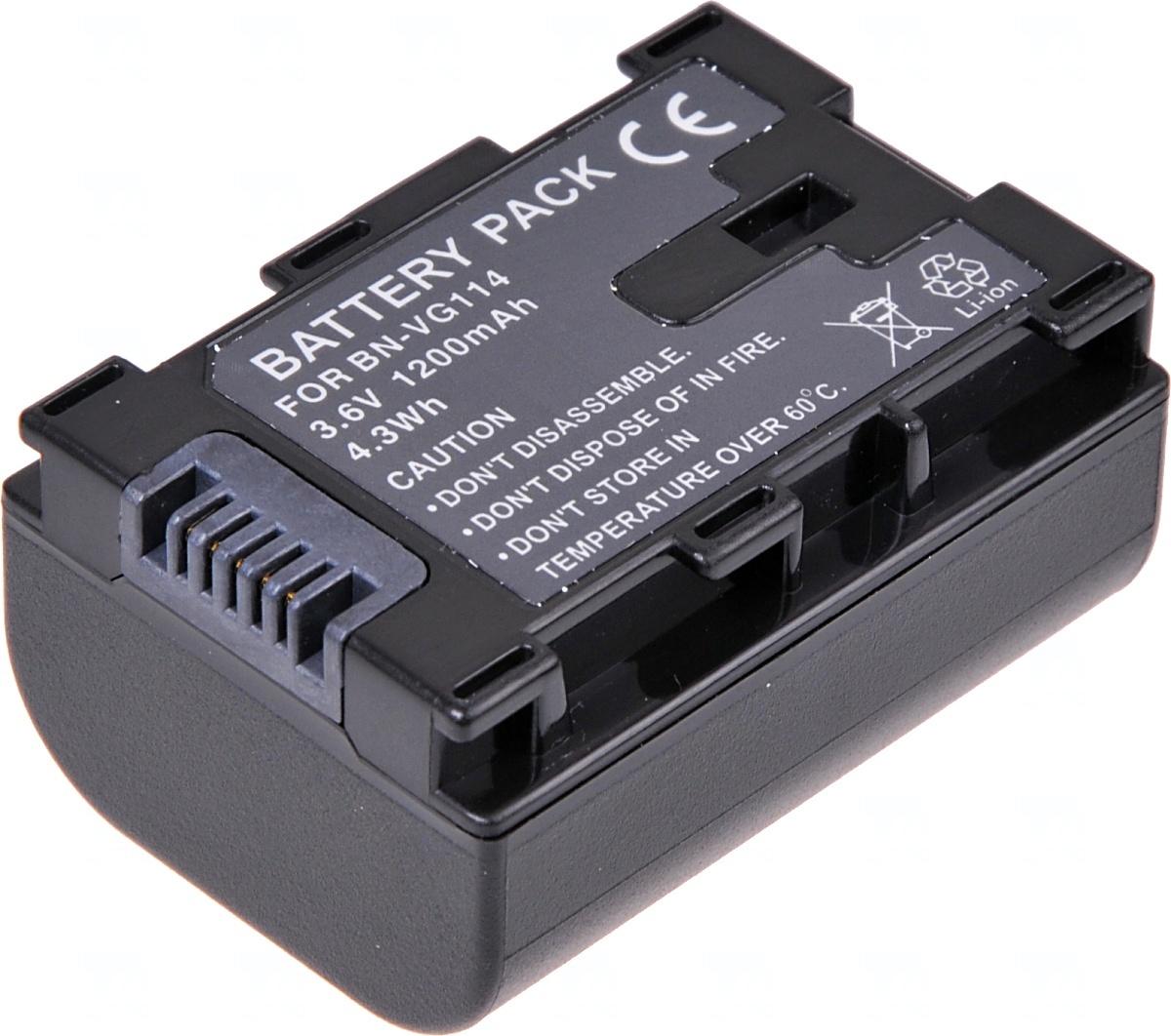 Baterie T6 power JVC BN-VG107, BN-VG108, BN-VG114, 1200mAh, černá (Baterie a gripy)