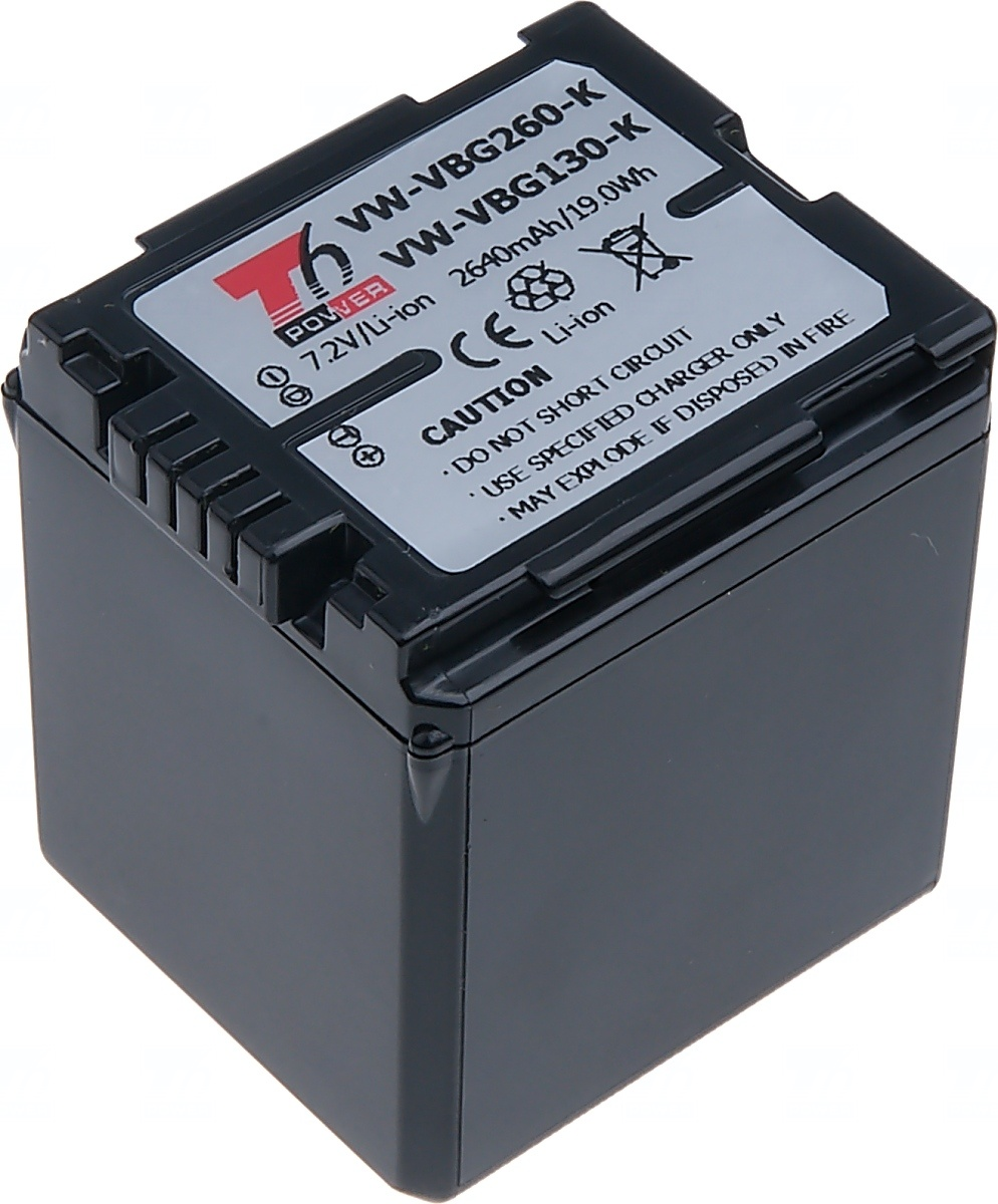 Baterie T6 power Panasonic VW-VBG260, 2640mAh, černá (Baterie a gripy)