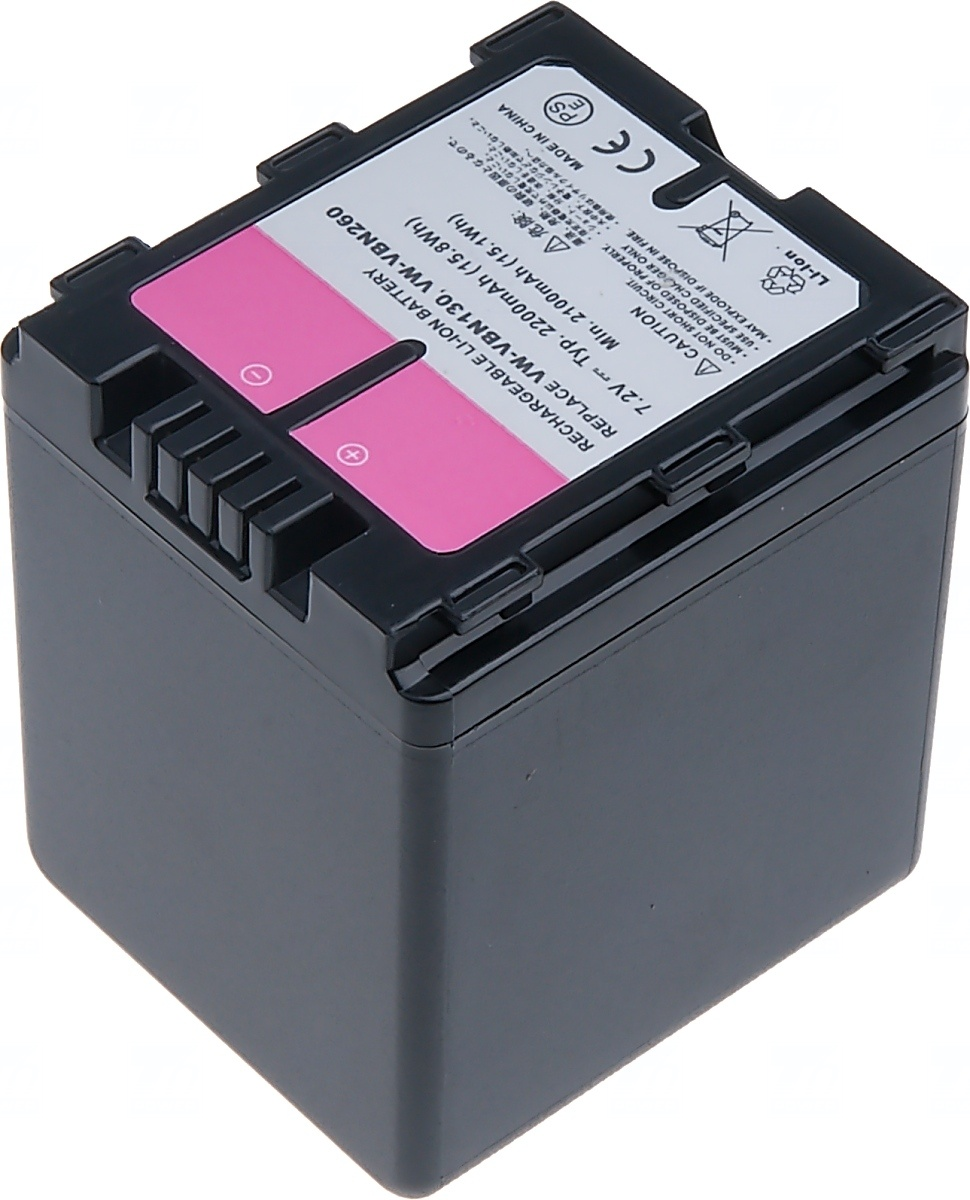 Baterie T6 power Panasonic VW-VBN260, 2200mAh, černá (Baterie a gripy)