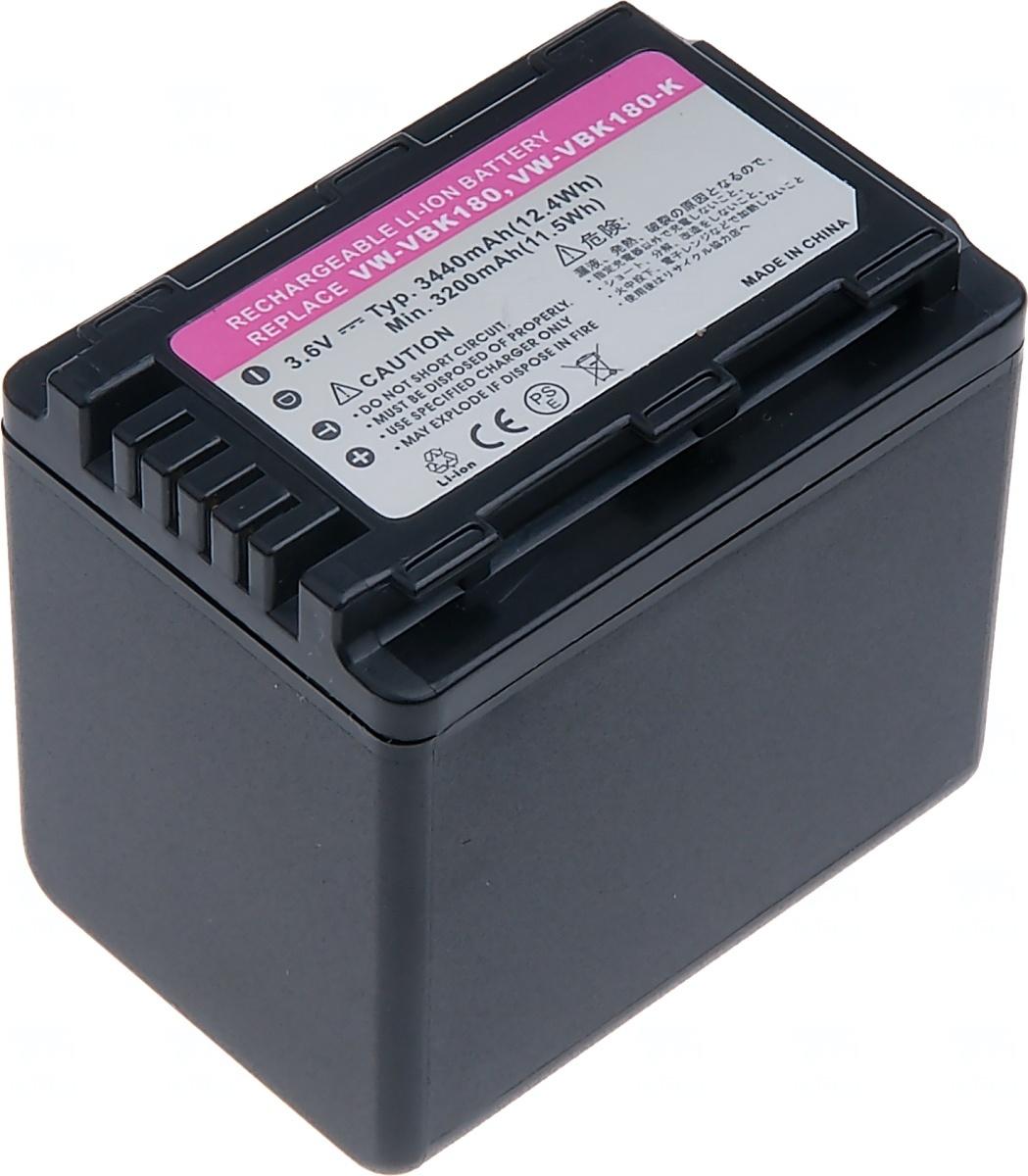 Baterie T6 power Panasonic VW-VBK360, 3440mAh, černá (Baterie a gripy)