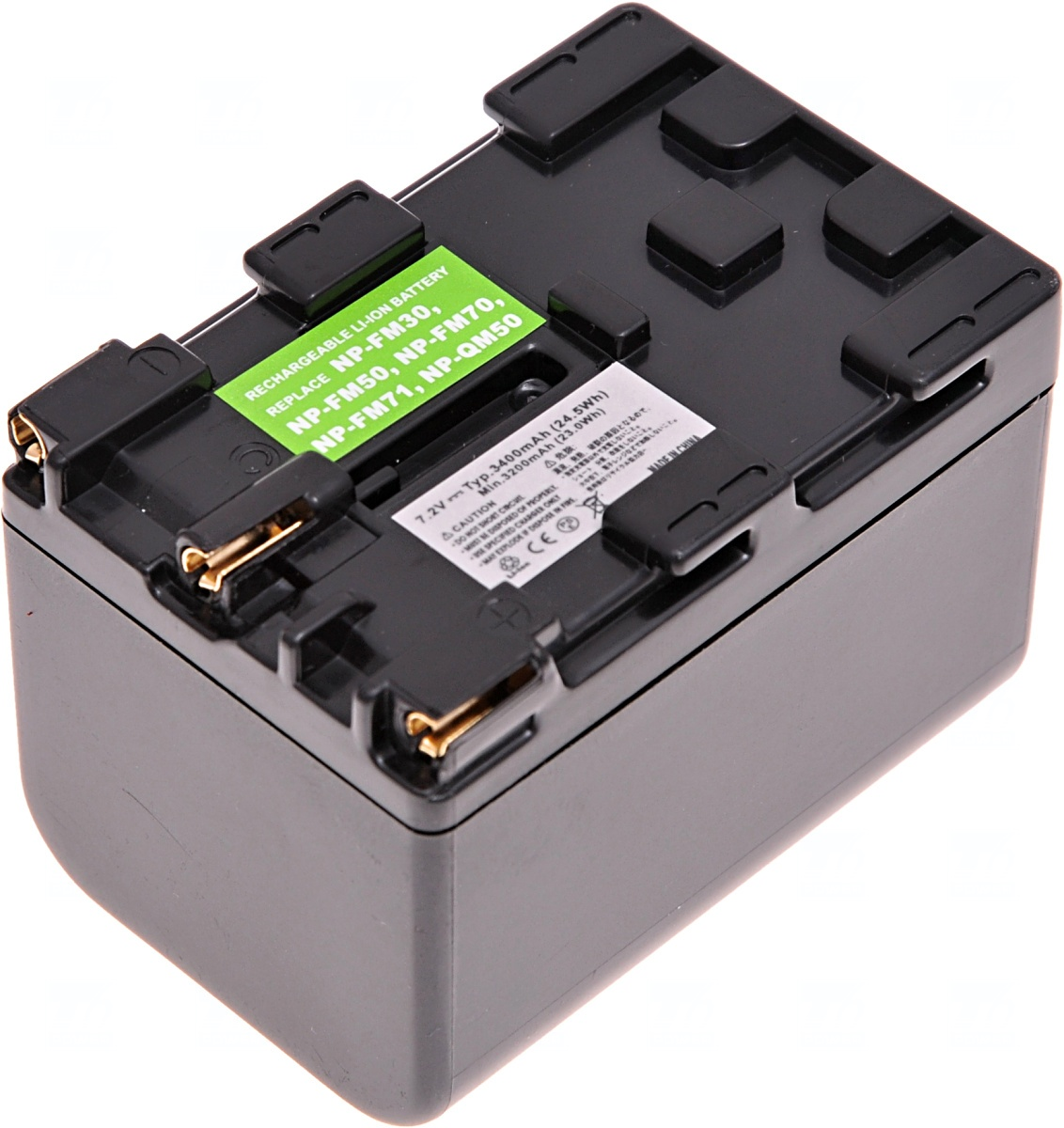 Baterie T6 power Sony NP-FM70, NP-FM71, NP-QM70, NP-QM71, 3400mAh, šedá (Baterie a gripy)