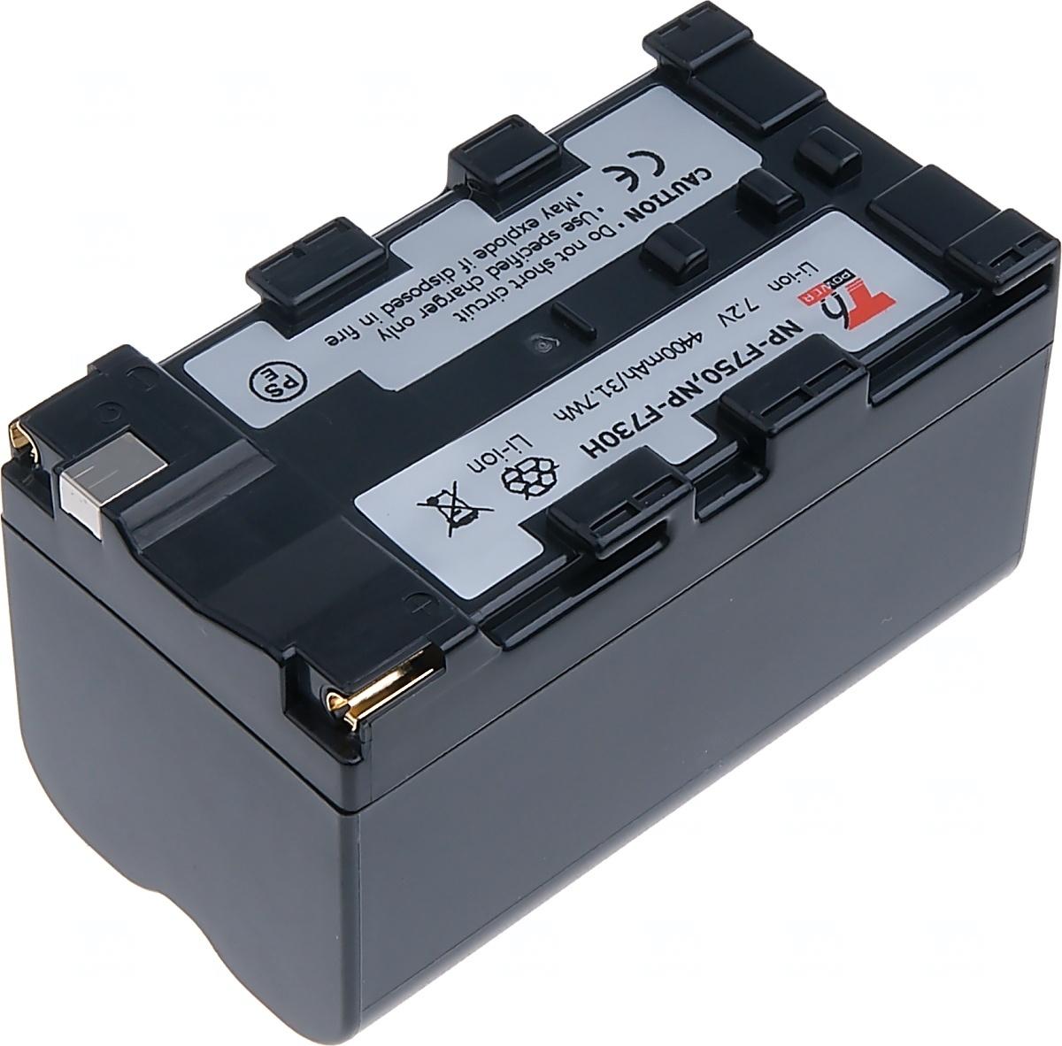 Baterie T6 power Sony NP-F750, NP-F730H, 4600mAh, šedá (Baterie a gripy)