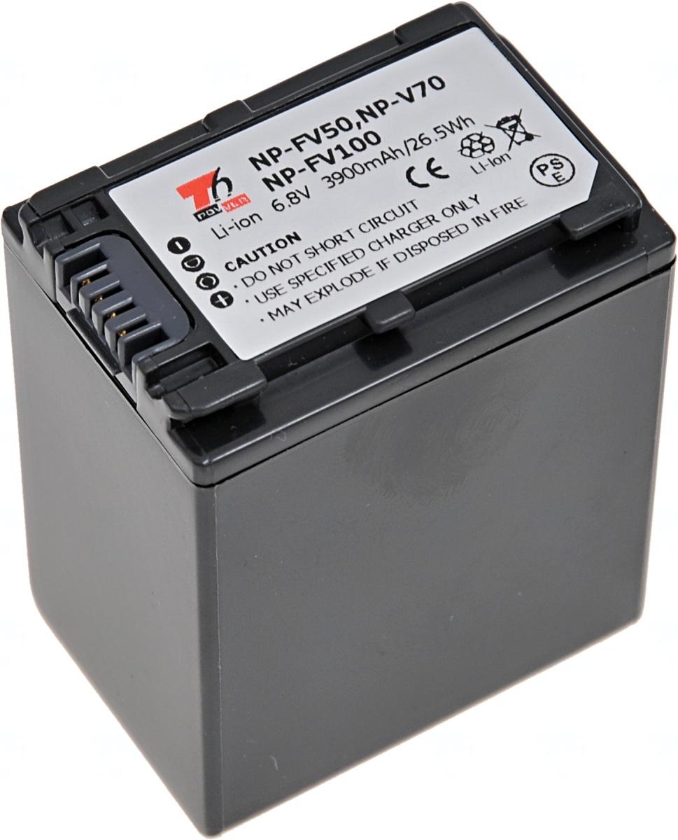 Baterie T6 power Sony NP-FV100, NP-FV70, NP-FV50, 3900mAh, šedá (Baterie a gripy)
