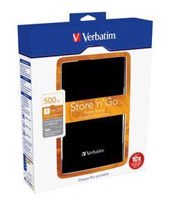 """TRHÁK VERBATIM HDD 2.5"""", 500 GB, USB 3.0, Black (Pevné disky externí 2,5"""")"""