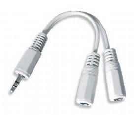 Kabel.rozdvojka jack 3,5na2x3,5mm M/F,10cm, audio (Kabely a adaptéry)
