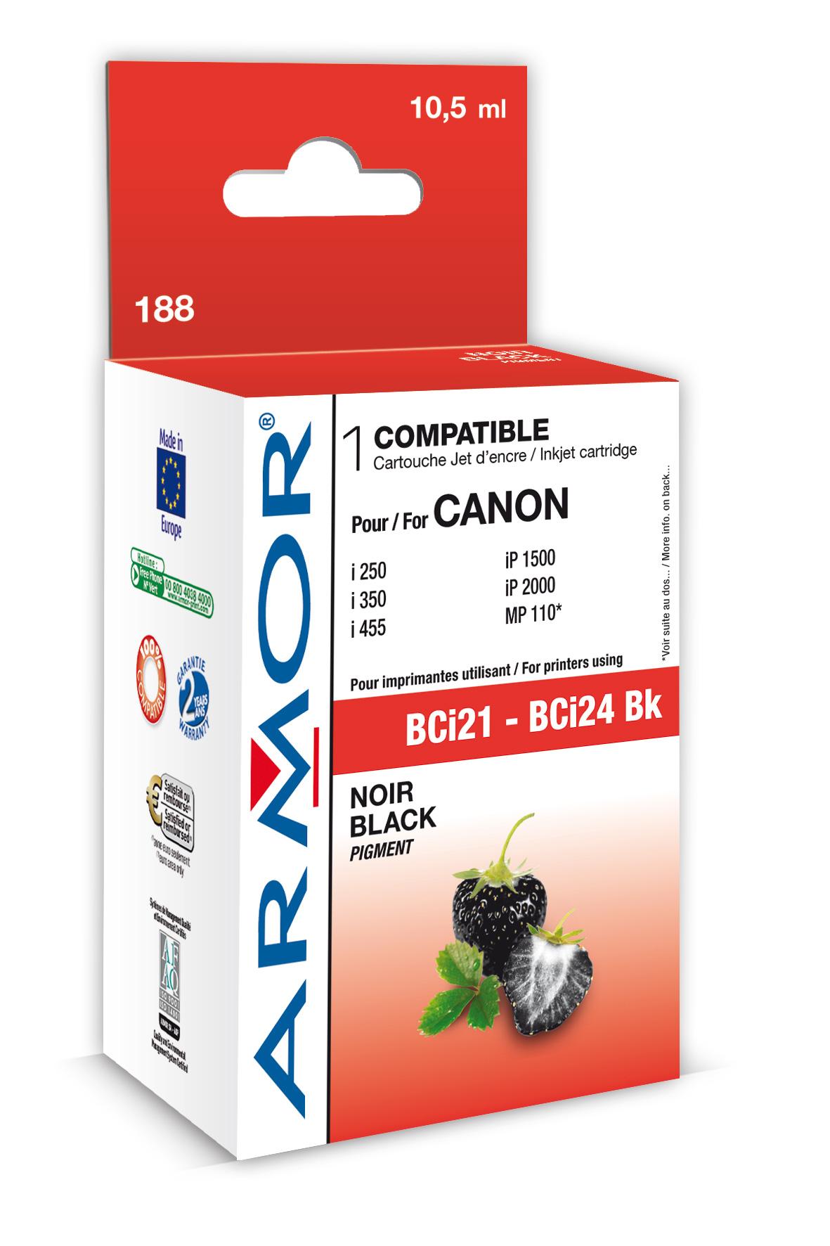 Armor ink-jet pro Canon S100 (BCi21/24Bk) (Inkousty a refill sady)