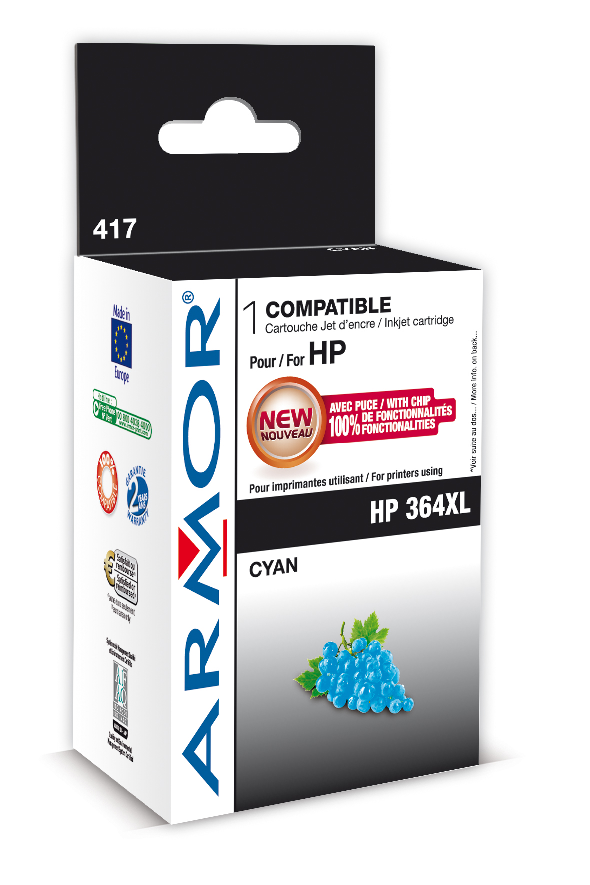 Armor ink-jet pro HP Photosmart B8550,12ml,Cyan (Inkousty a refill sady)