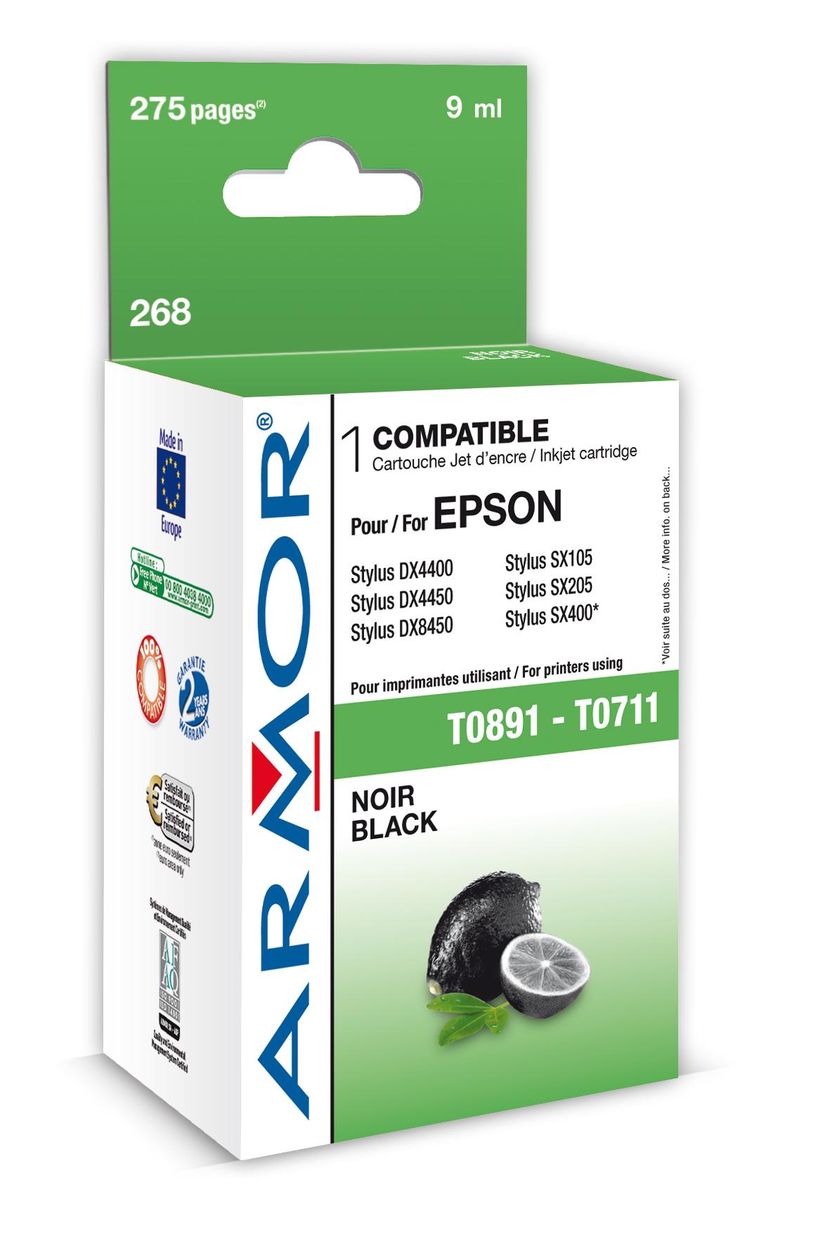 Armor ink-jet pro Epson Stylus D78, (T071140), Bk (Inkousty a refill sady)