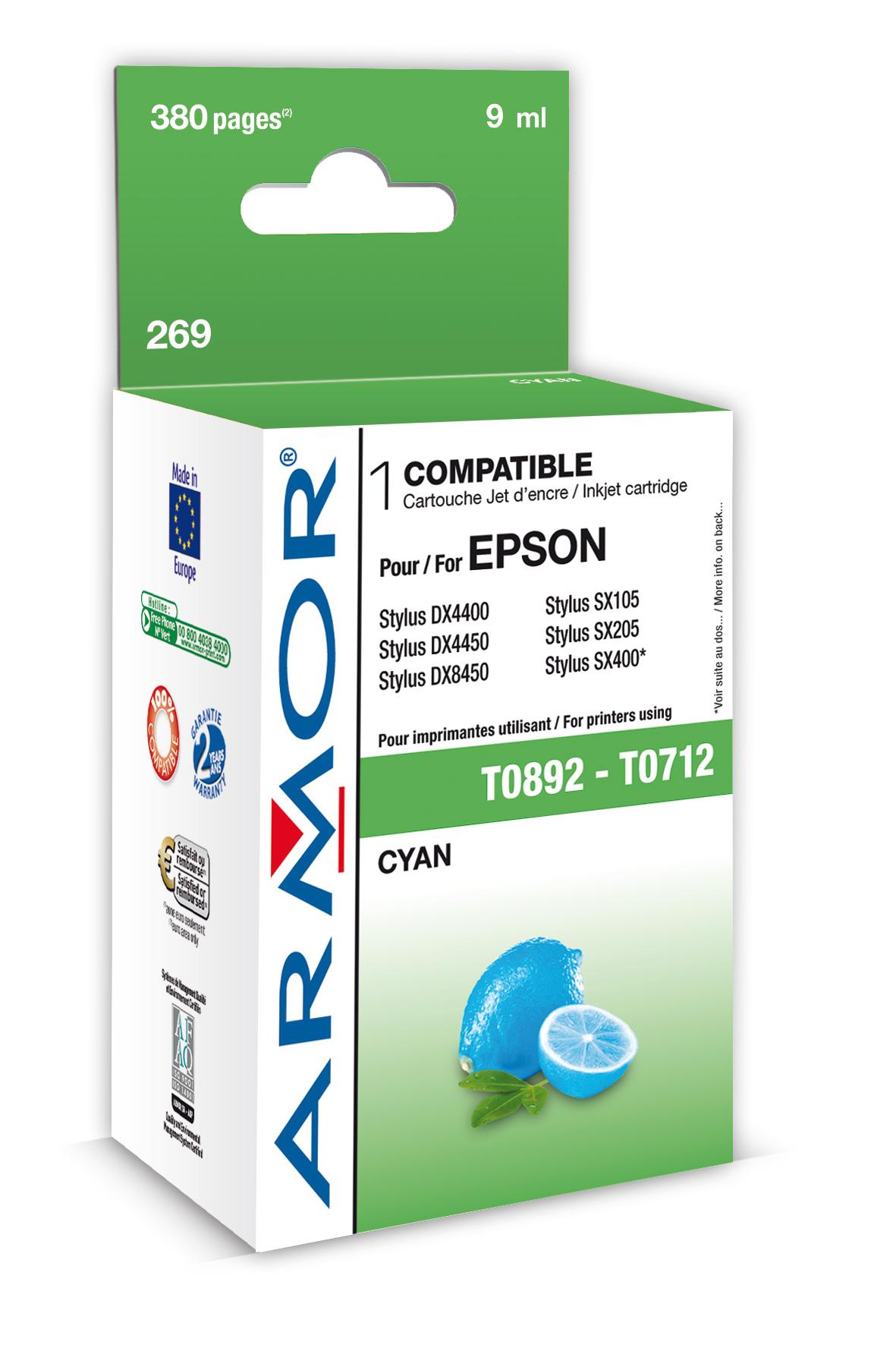 Armor ink-jet pro Epson Stylus D78 (T071240), C (Inkousty a refill sady)