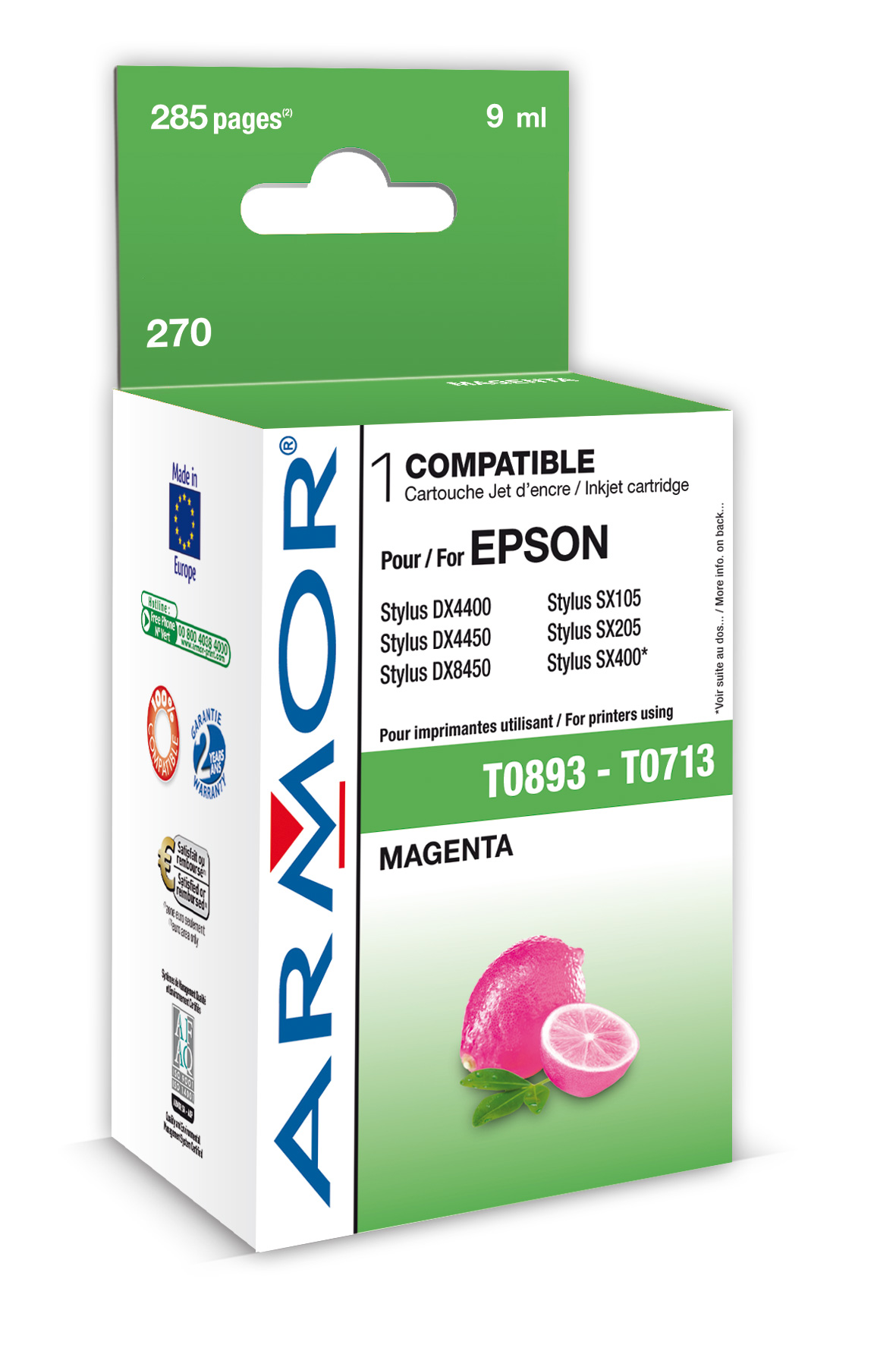 Armor ink-jet pro Epson Stylus D78 (T071340), M (Inkousty a refill sady)