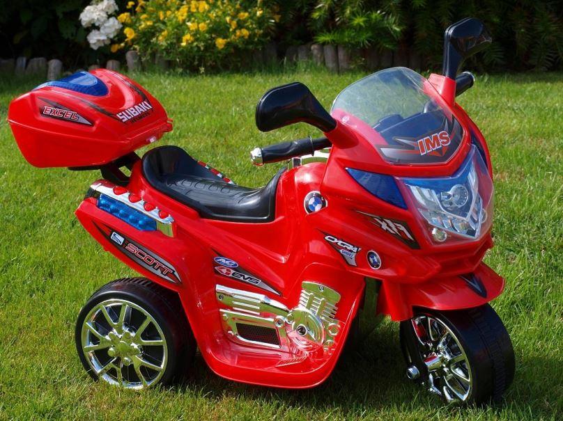 Elektrická motorka pro děti viper dálniční policie, červená
