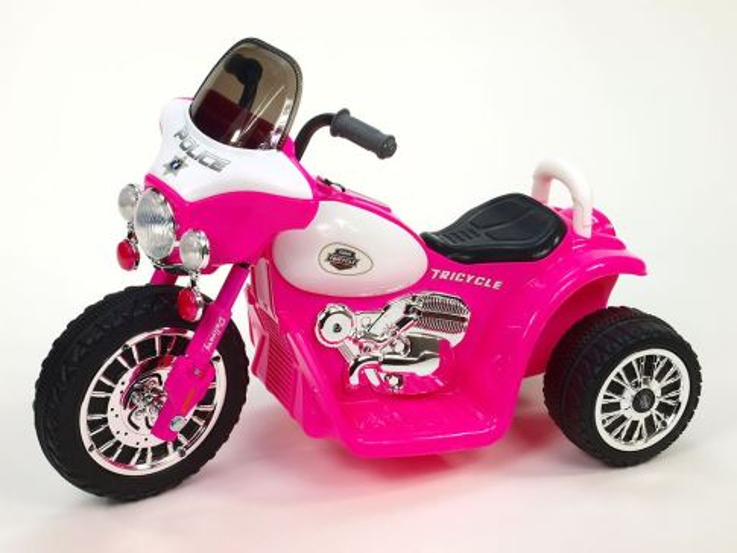 Elektrická motorka pro děti Chopper Harley, růžový