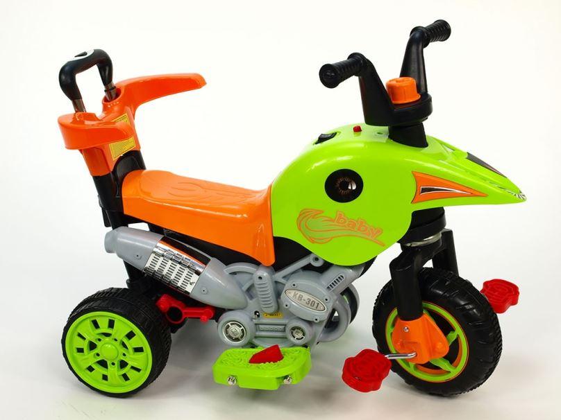Elektrická motorka pro děti 3V1, zelená
