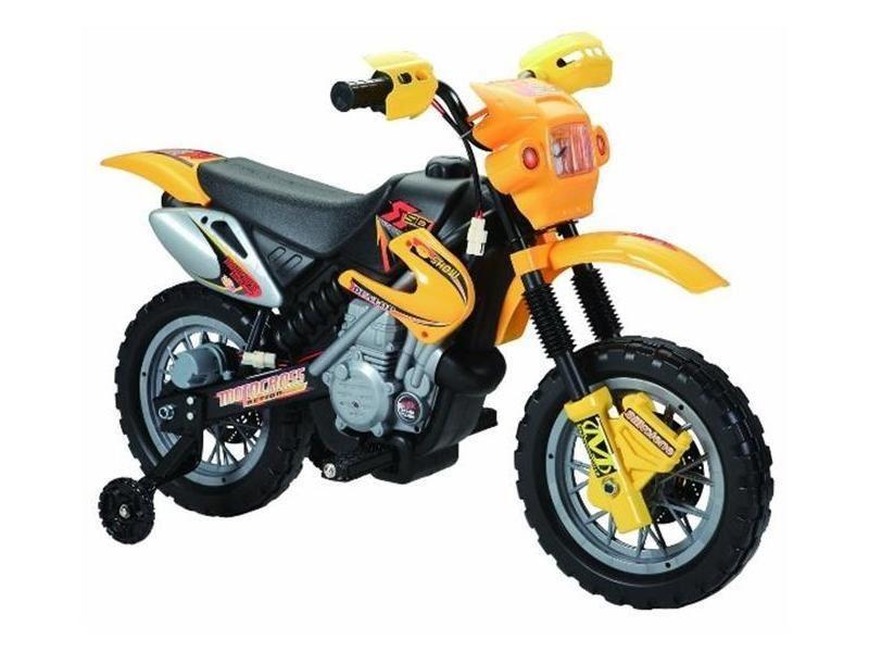 Elektrická motorka pro děti Crosska 6V, žlutá