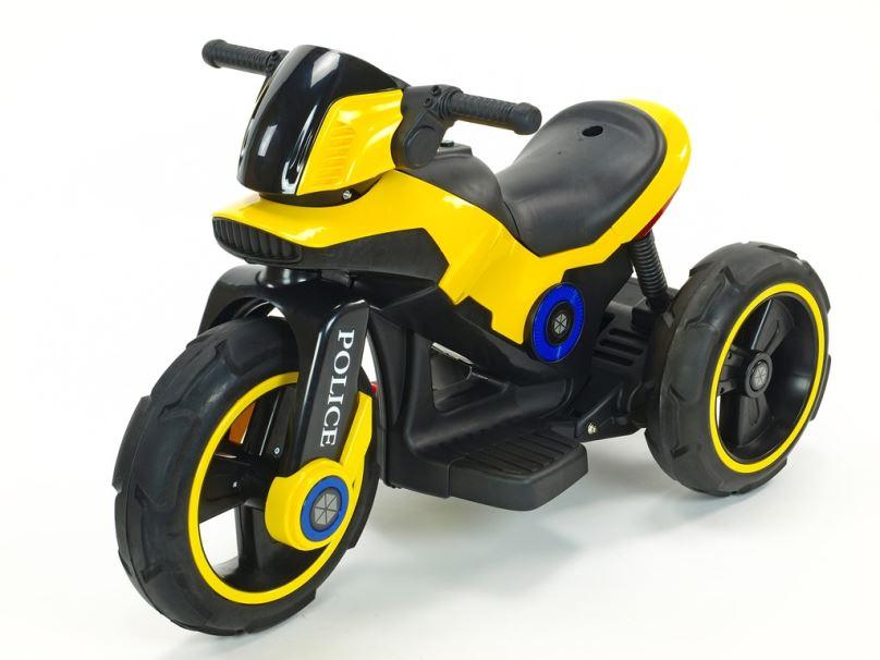 Elektrická motorka pro děti fantastická POLICE, žlutá