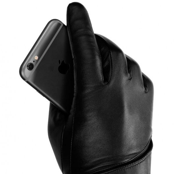 MUJJO Kožené dotykové rukavice - velikost 9 - černé MUJJO-GLLT-016 ... 4a513c11c8