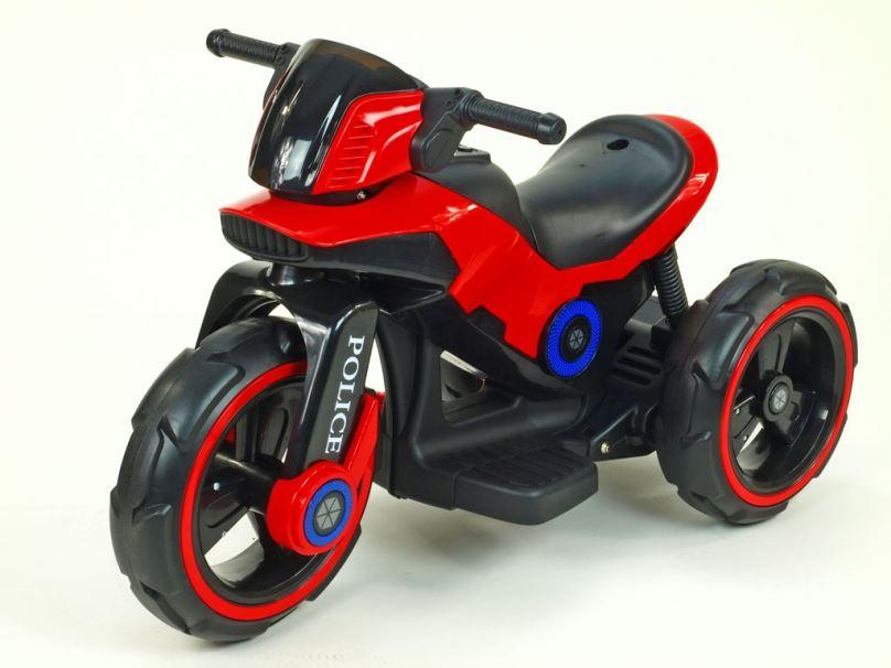 Elektrická motorka pro děti fantastická POLICE, červená
