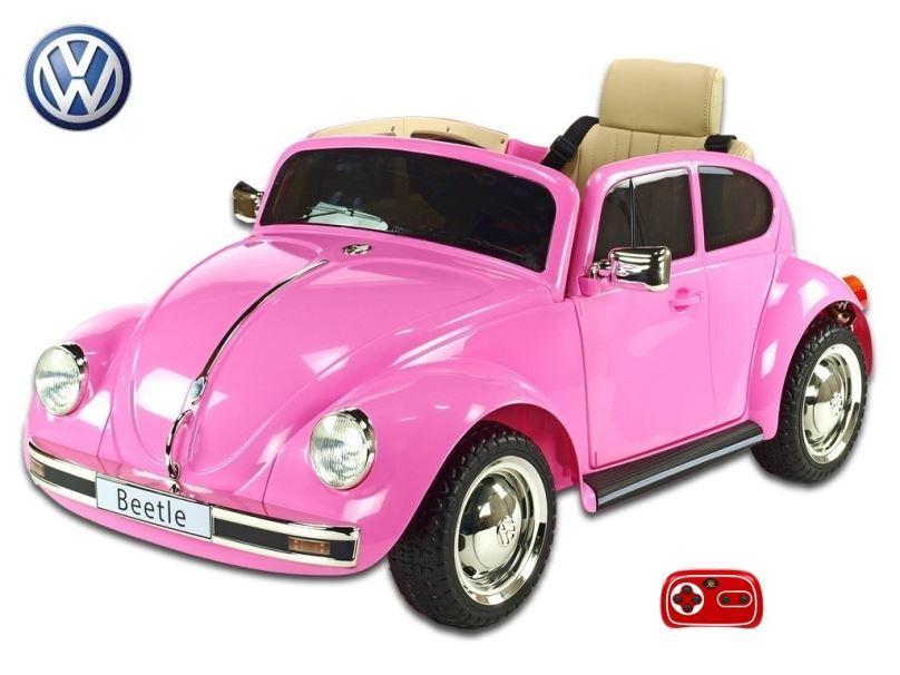 Elektrické auto pro děti Volkswagen Beetle oldtimer růžový