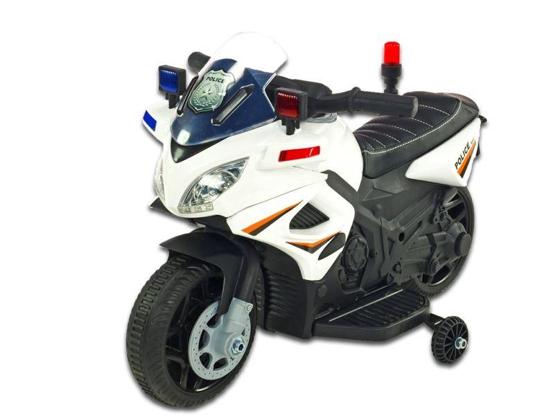 Elektrická motorka pro děti Policie 911, bílá